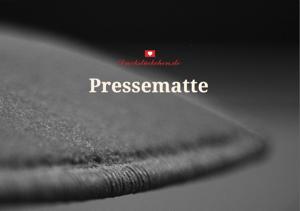 Dreckstückchen Pressematte allgemein
