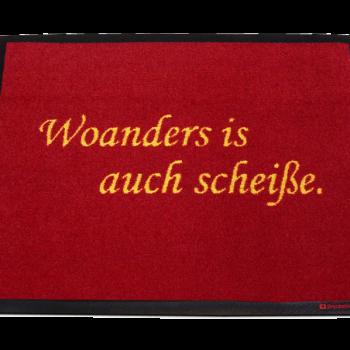 Fußmatte: Dreckstückchen Woanders is auch scheiße.