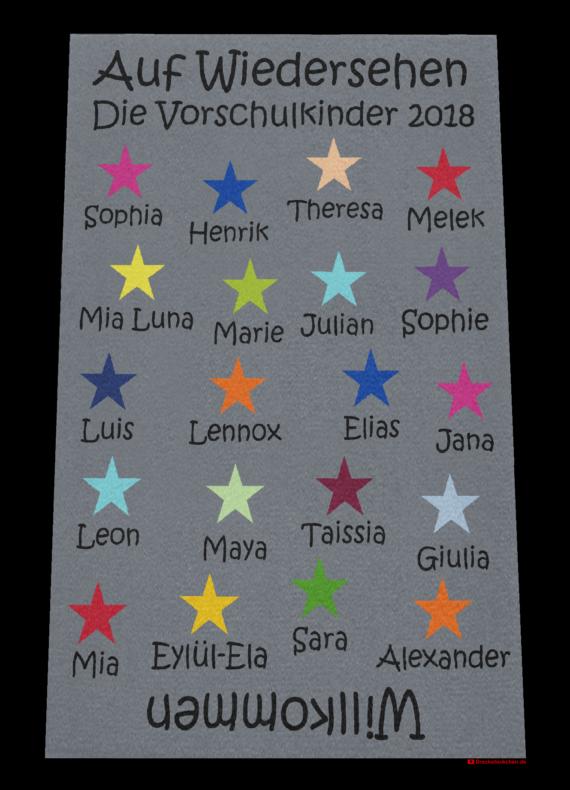 Dreckstückchen: Kindergarten Abschiedsfussmatte 2018