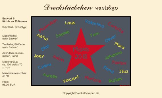 Dreckstückchen: Kindergarten Abschiedsmatte100x70B