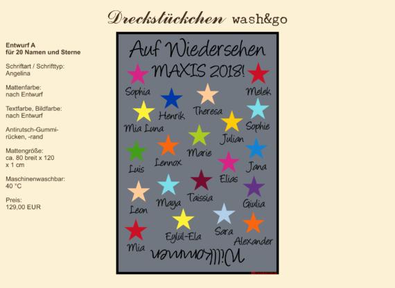 Dreckstückchen: Kindergarten Abschiedsmatte80x120A