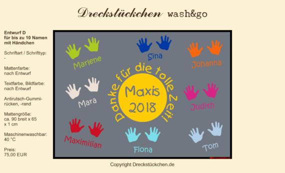 Dreckstückchen: Kindergarten Abschiedsmatte90x65D