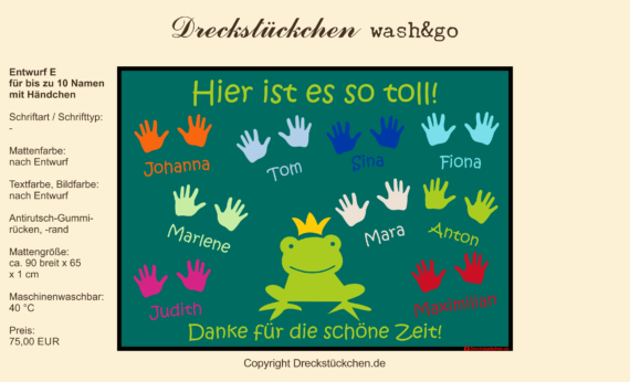 Kindergarten Abschiedsfußmatte