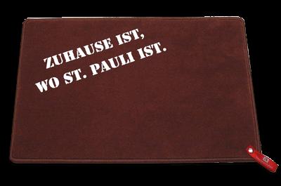 Fußmatte - Zuhause ist, wo St. Pauli ist.