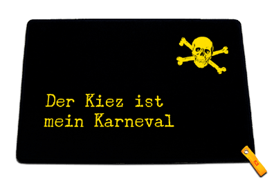 Fußmatte: Der Kiez ist mein Karneval