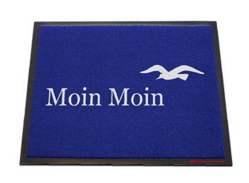 Fußmatte: Moin Moin Möwe