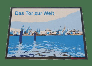 Fußmatte: Das Tor zur Welt