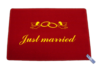 Fußmatte: Just married