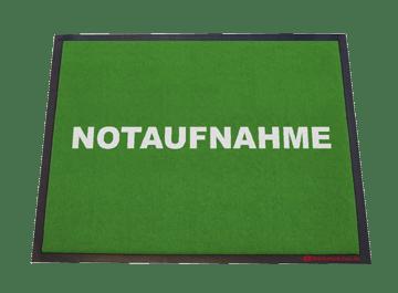 Fußmatte: Notaufnahme