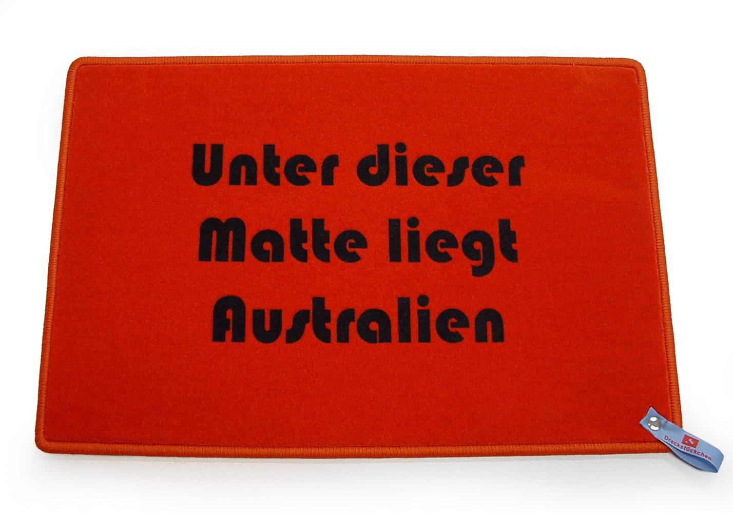Unter dieser Matte liegt Australien