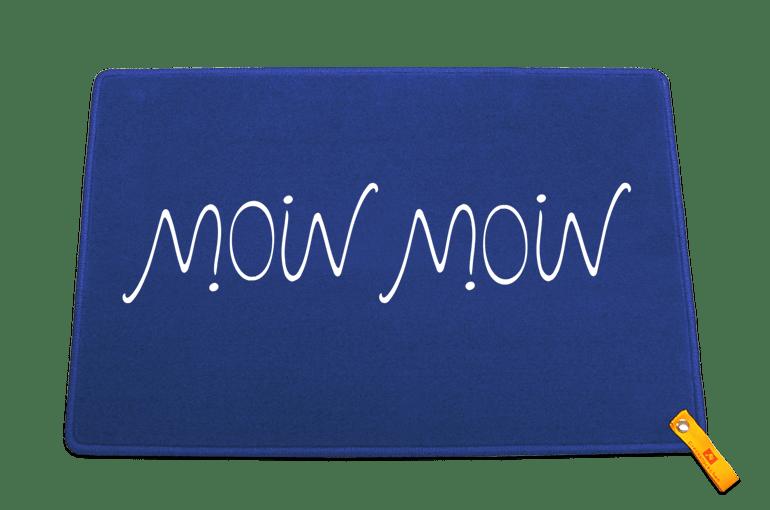 Moin Moin Ambigramm - von beiden Seiten lesbar