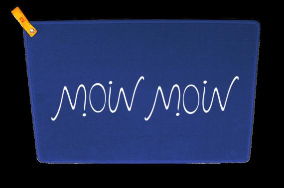 Moin Moin Ambigramm - um 180 Grad gedreht lesbar