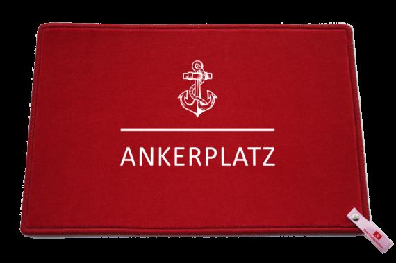 Fußmatte: Dreckstückchen Ankerplatz