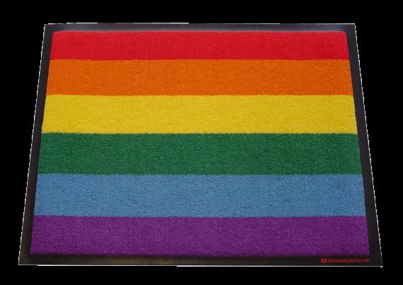 Fußmatte Regenbogen von Dreckstückchen