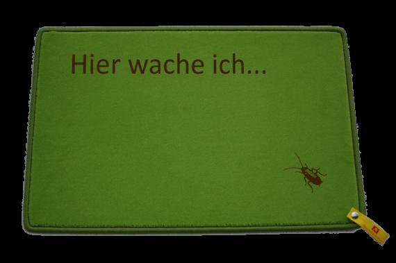Fußmatte: Hier wache ich La Cucaracha