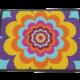 Fußmatte: Flower Power-Dreckstückchen