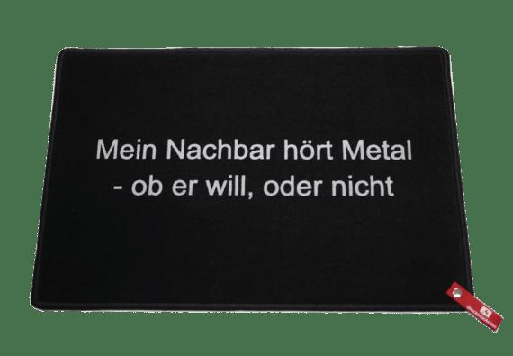 Fußmatte Dreckstückchen - Mein Nachbar hört Metal