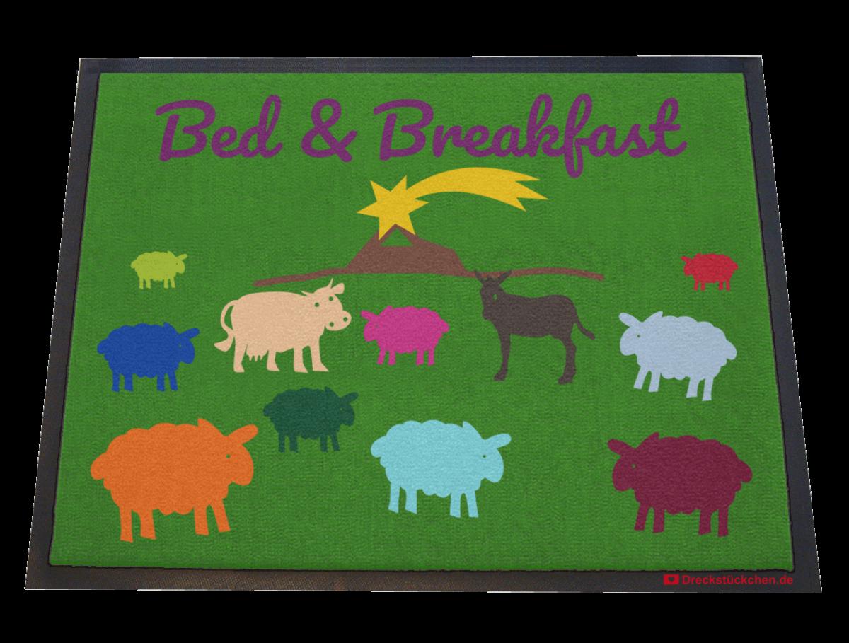Fußmatte: Dreckstückchen Bed and Breakfast