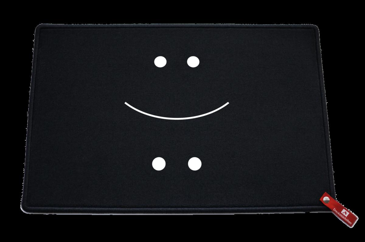 Fußmatte: Dreckstückchen Smiley lachen traurigLACHEN