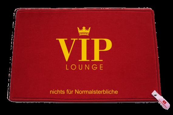 Fußmatte: Dreckstückchen VIP-Lounge