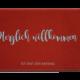 Fußmatte: Herzlich willkommen ist erst der Anfang
