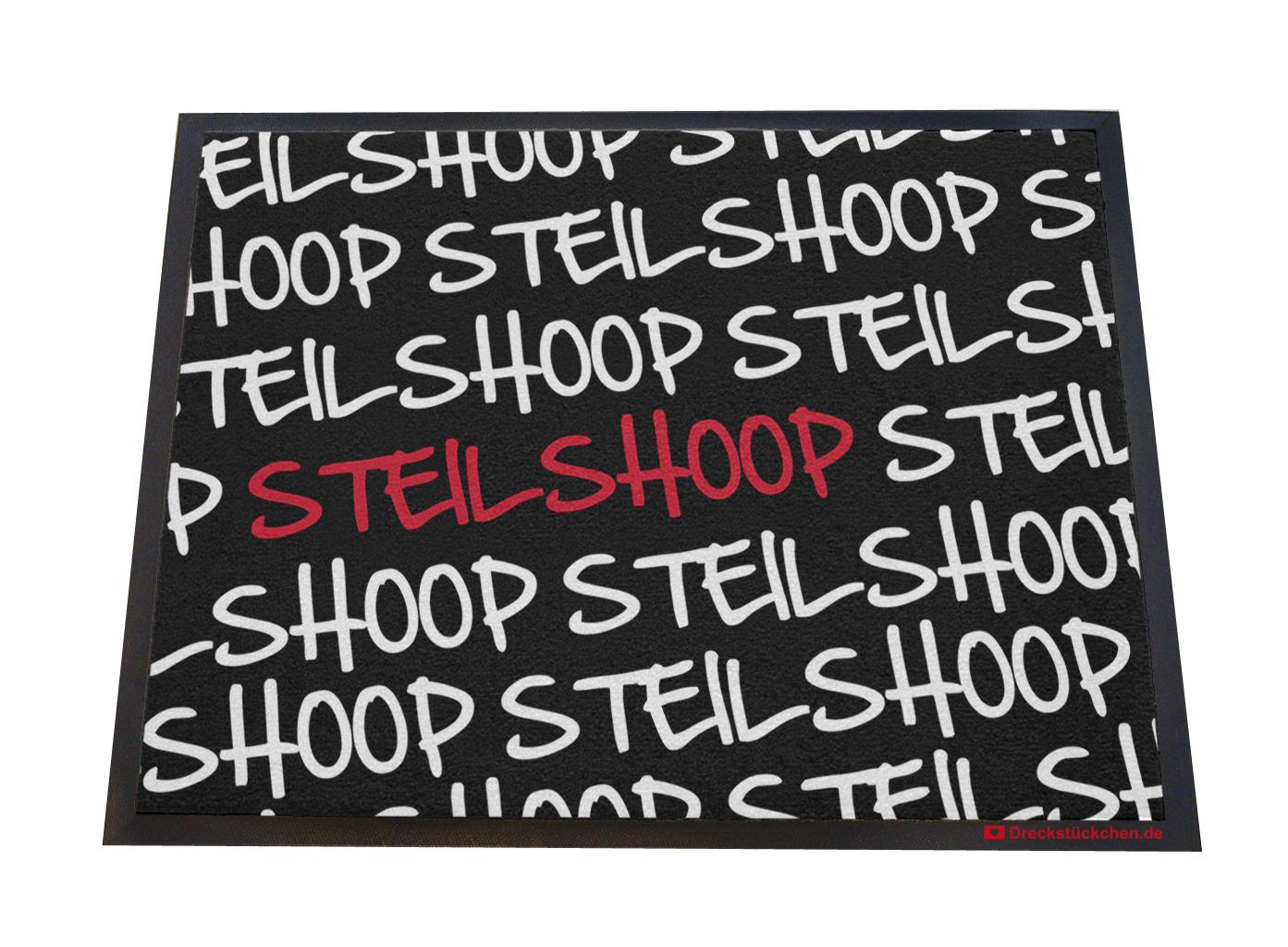 Fußmatte: Dreckstückchen-Steilshoop