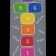 Dreckstückchen: Kindergarten Abschiedsfussmatte Hüpffeld Regenbogen 75x150 Entwurf G