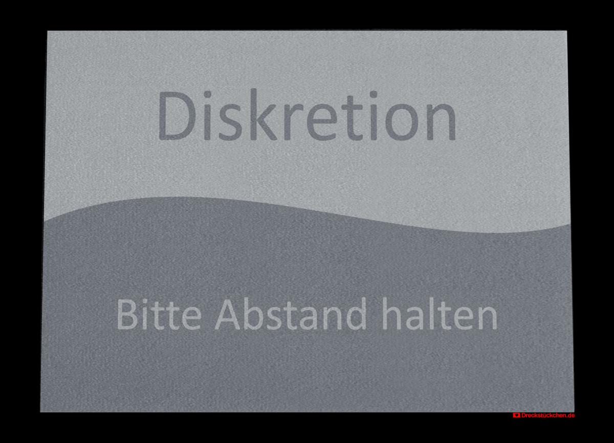 Diskretion_Anmeldung_Abstandhalter_Fußmatte_Dreckstückchen_EntwurfC90x65