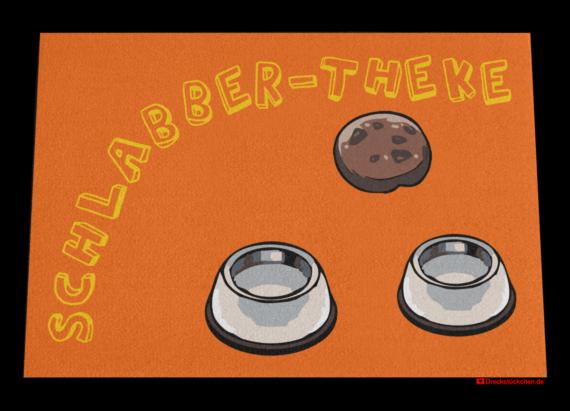 Fußmatte: Schlabber-Theke