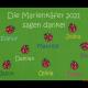 Dreckstückchen: Kindergarten Abschiedsfussmatte Marienkäfer 90x65 Entwurf V