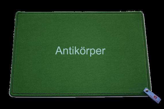 Fußmatte: Antikörper Dreckstückchen