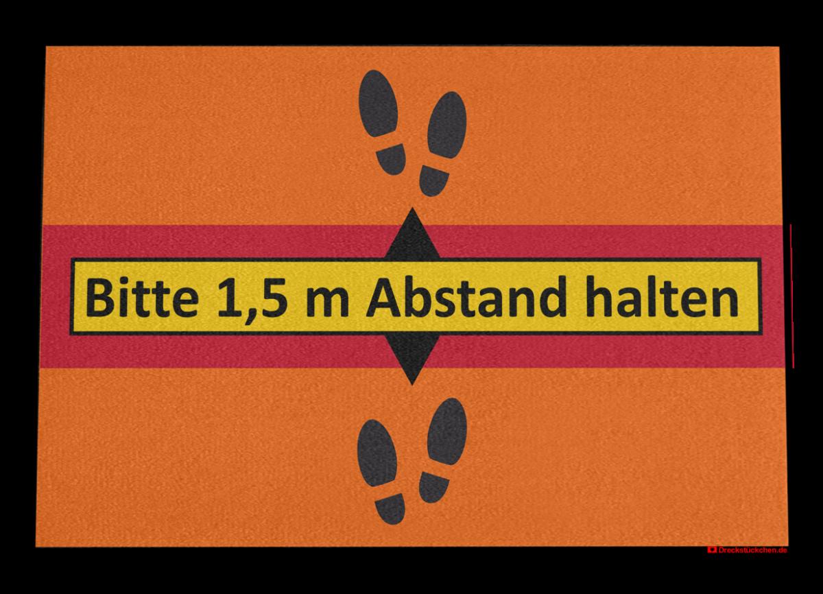 Fußmatte: Bitte Abstand halten Dreckstückchen