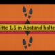 Fußmatte Bitte Abstand halten Dreckstückchen