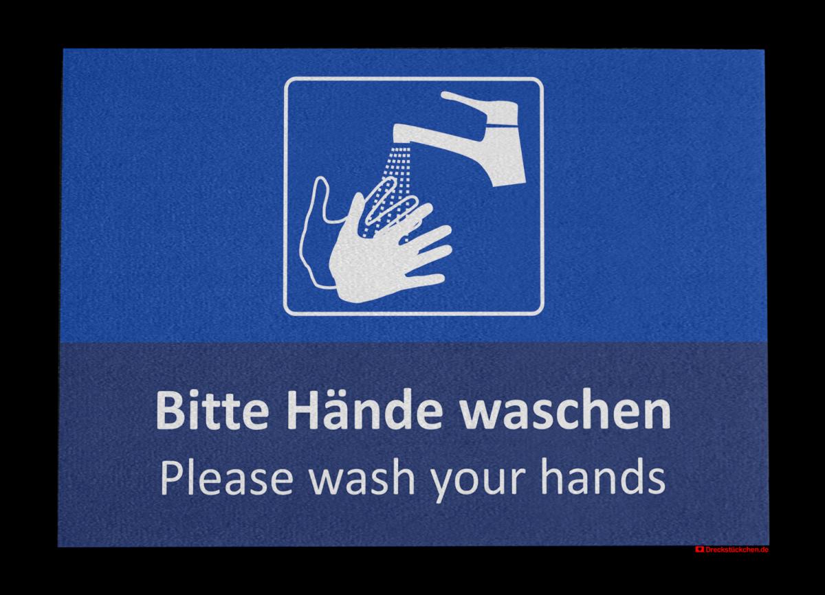 Fußmatte: Bitte_Haende_waschen100x70