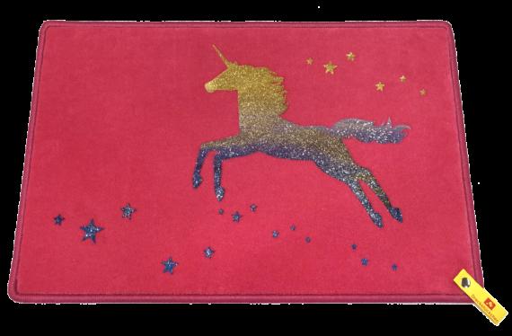 Fußmatte: Einhorn Dreckstückchen mit Glitzer