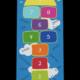 Dreckstückchen: Kindergarten Abschiedsfussmatte Hüpffeld 9 Felder Regenbogen 75x175 Entwurf G